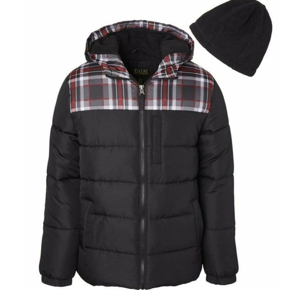 iXtreme Big Boys Plaid Reversible Systems Puffer Jacket
